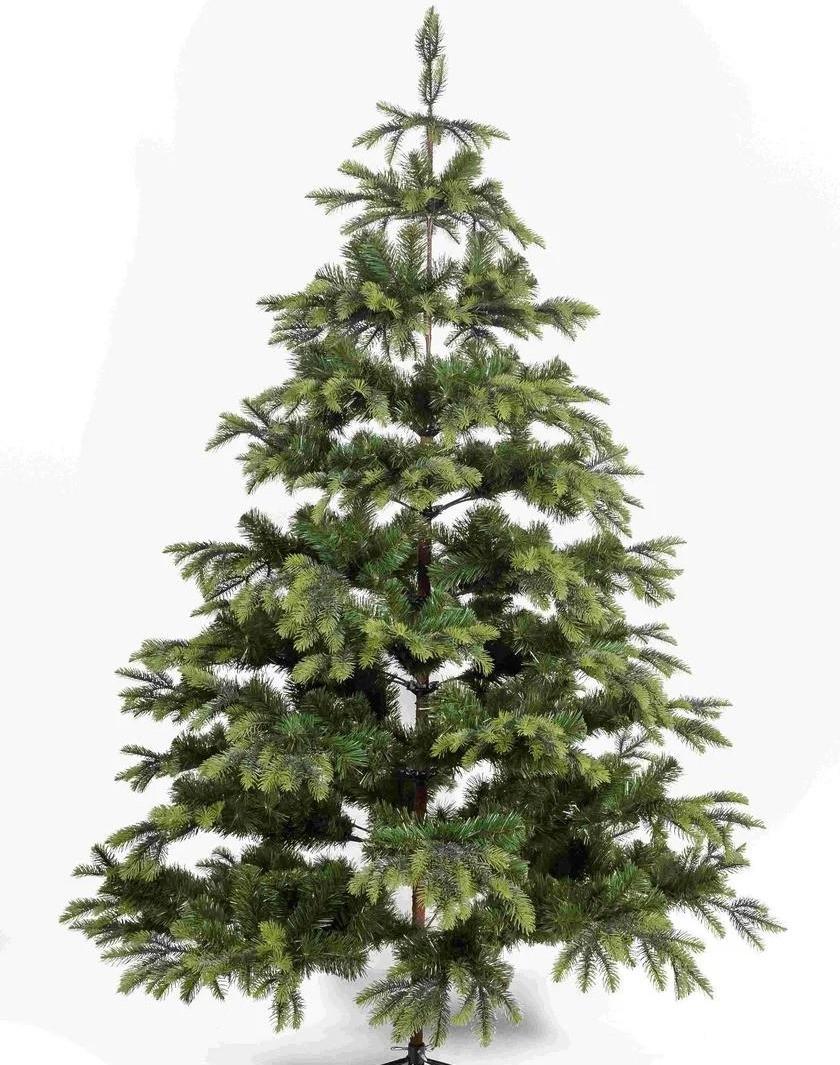 """Новогодняя искусственная елка """"Ауреа"""" литая со светлыми кончиками высота 1,80 м"""