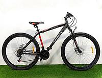 """Спортивный горный велосипед 29 дюймов Аzimut Spark 29"""" FR/D рама 21"""" черно-красный"""