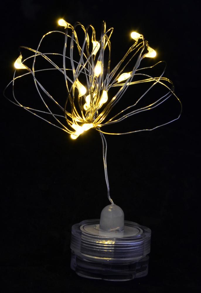 """Гирлянда светодиодная LED-нить, """"Light for water"""" водонепроницаемая, 15 ламп, молочно-белая, 1,60 м"""