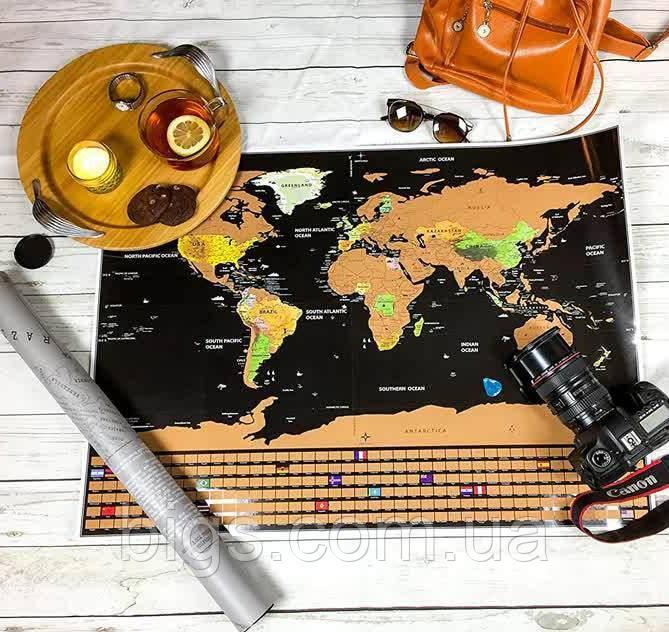 Скретч карта мира 82х59 см