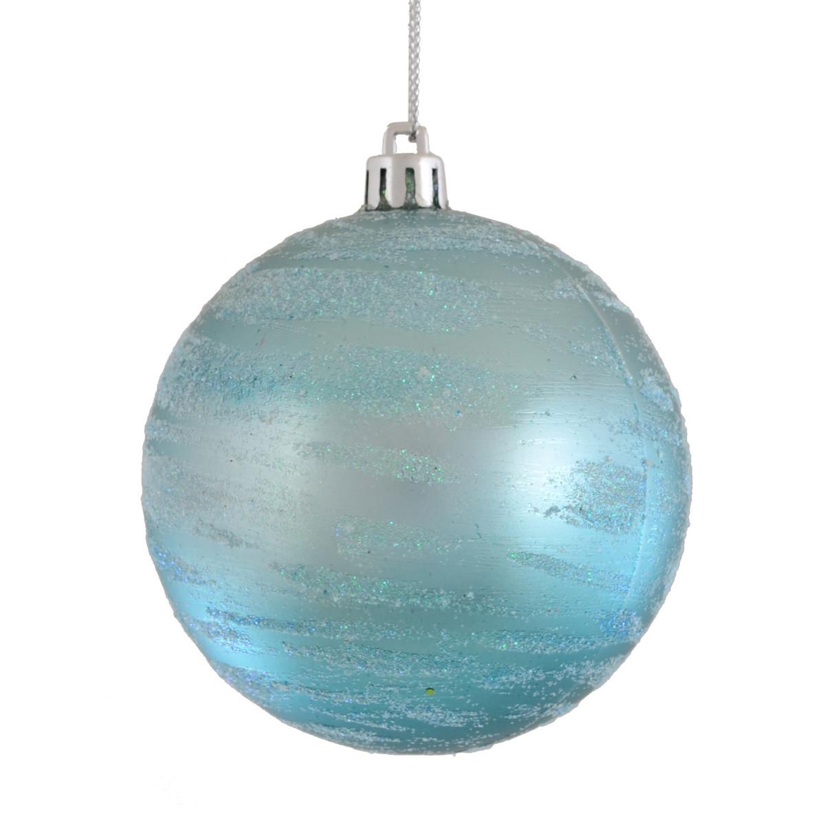 """Шар новогодний елочный пластиковый d-8 см """"Лазурь"""""""