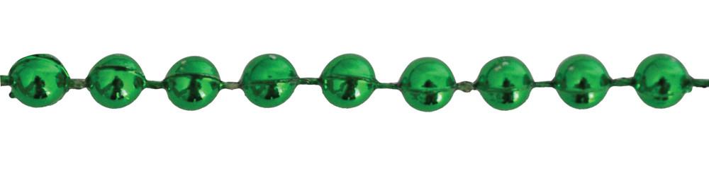 Бусы новогодние 4мм*3м, зеленые