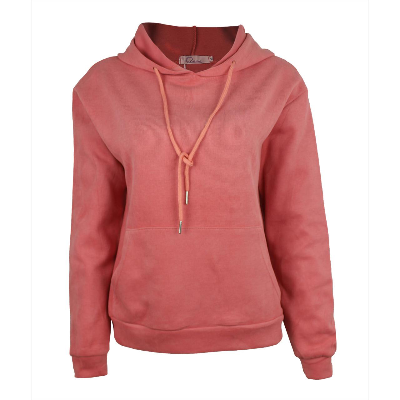 Худи однотонные с карманом для девушек хб хорошего качества худи с капюшоном розовые