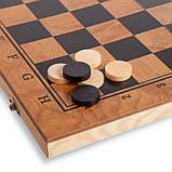 Шахматы, шашки, нарды 3 в 1 деревянные S3029 (фигуры-дерево, р-р доски 29см x 29см), фото 3