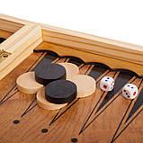 Шахматы, шашки, нарды 3 в 1 деревянные S3029 (фигуры-дерево, р-р доски 29см x 29см), фото 4