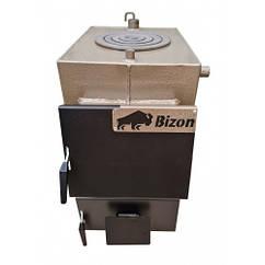 Твердотопливный котел Bizon М-140П (14 кВт с плитой)