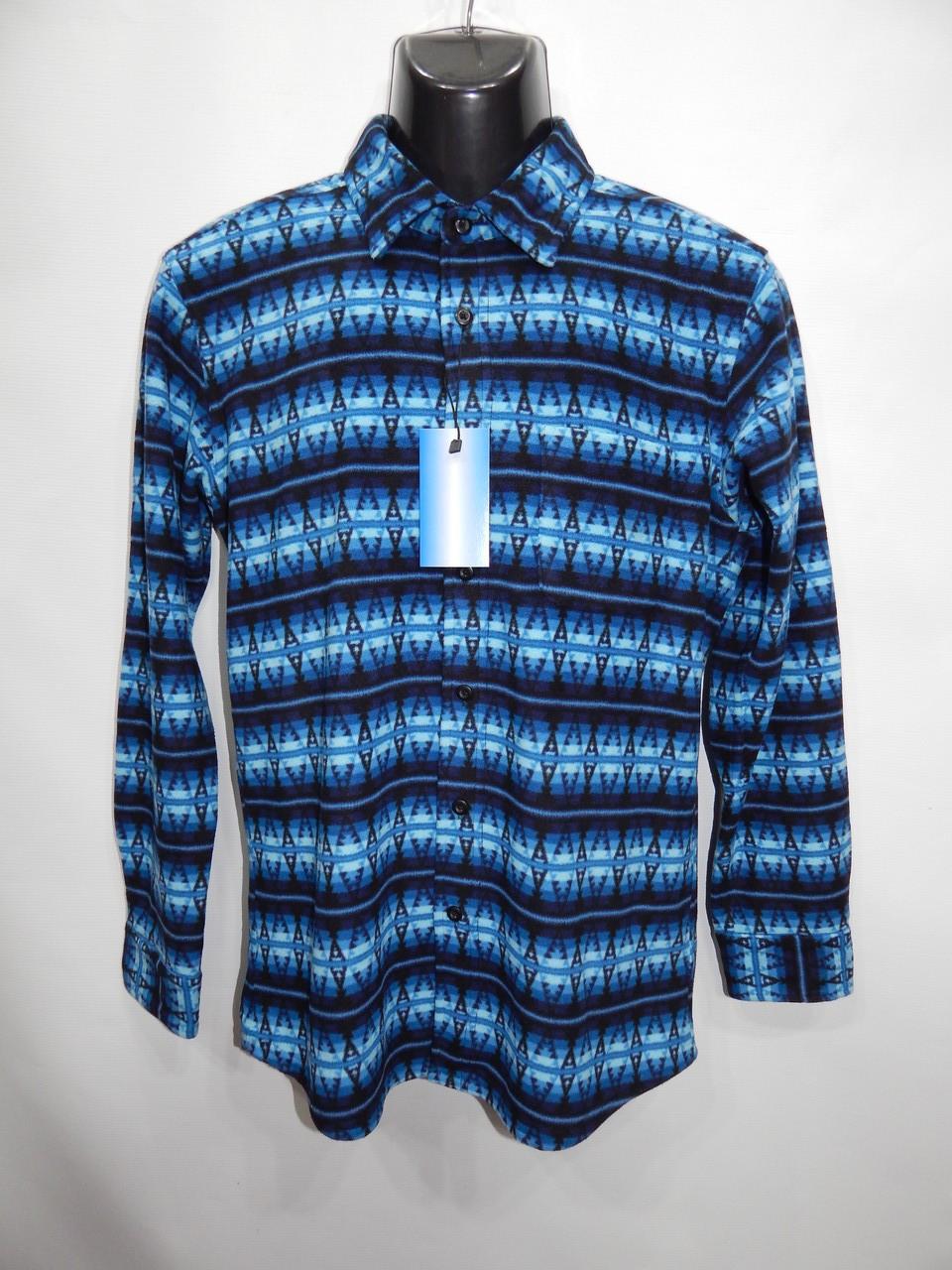 Мужская теплая флисовая рубашка Uniqlo оригинал р.48-50 053RT