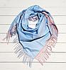 Платок Деми 100*105 см  голубой/пудра