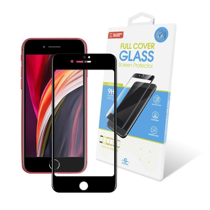 Защитное стекло Global для Apple iPhone SE 2020/8/7 Full Glue Black (1283126501395)