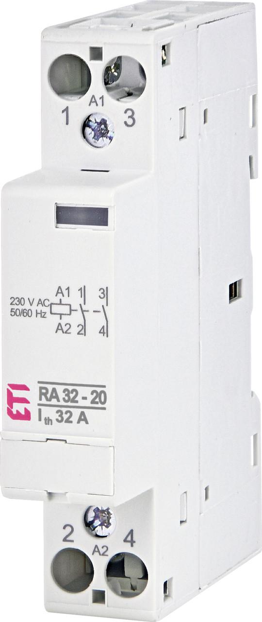Модульний контактор ETI RA 32-20 32А 2NO 230V 2464075
