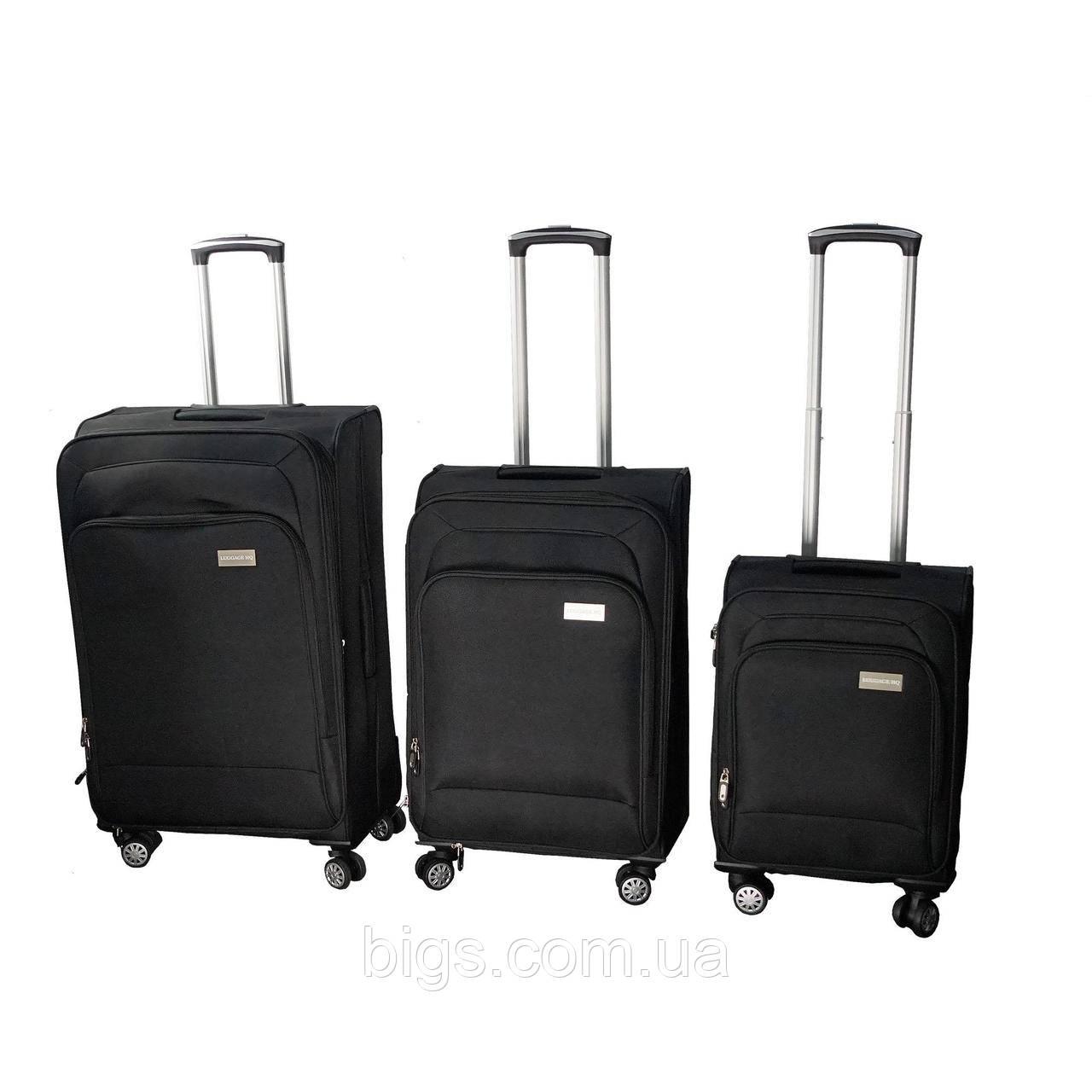 Набор чемоданов тканевых на колесиках 3 шт