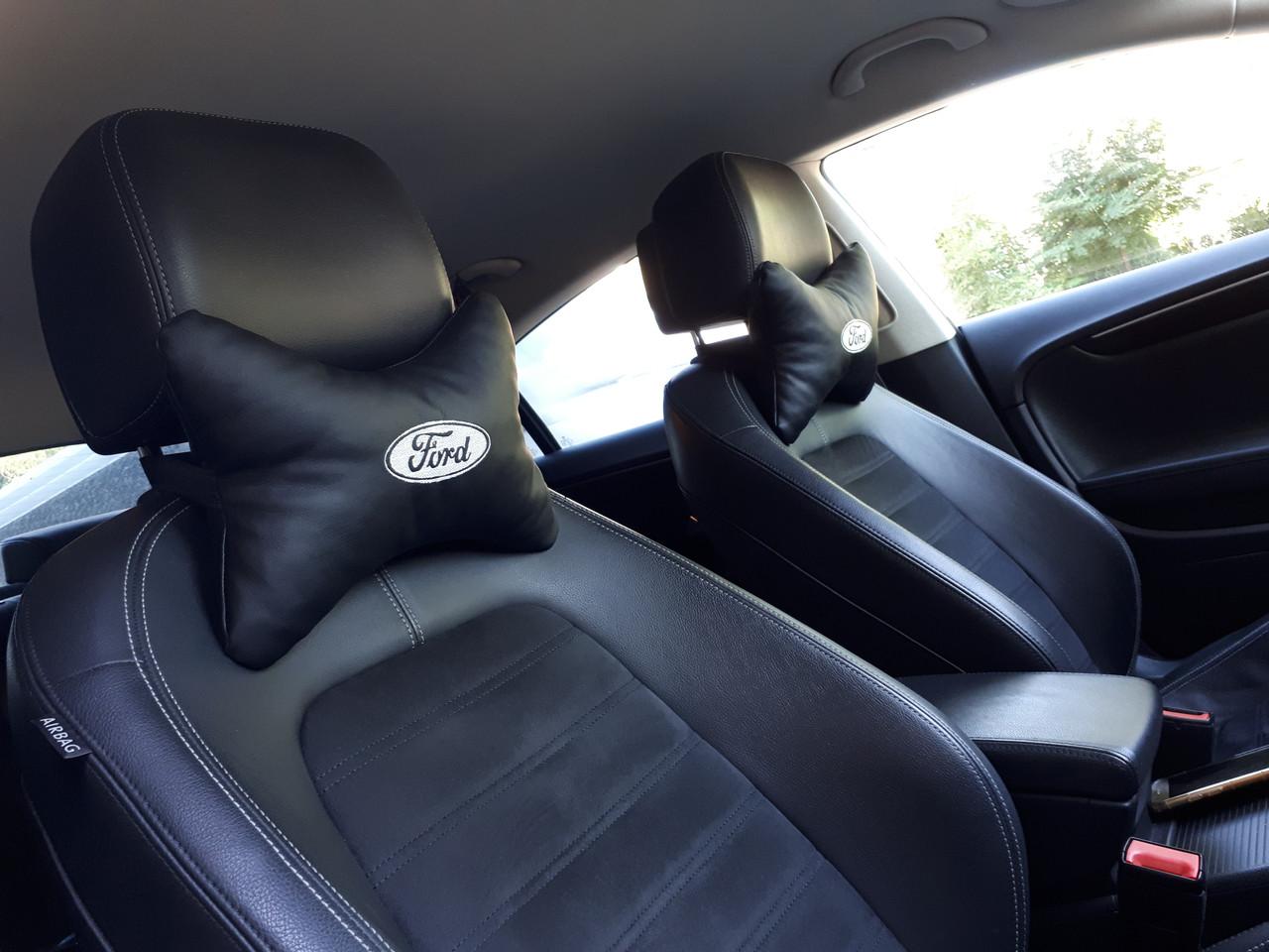 """Подголовник в машину с вышивкой """"Ford"""""""
