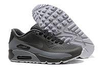 Кроссовки мужские Nike Air Max 90 Hyperfuse (найк аир макс 90) серые