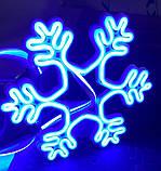 Неоновый светильник Снежинка 320х320мм, фото 2