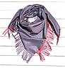 Платок Деми 100*105 см серый/розовый