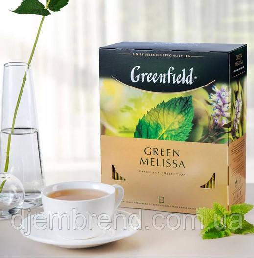 Чай Greenfield Green Melissa - Зеленый с мелисой и мятой, пакетированный 100 шт