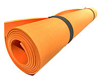 Коврик для йоги и фитнеса «NEWDAY» 1500×600×3мм, EVA, нескользящий Оранжевый