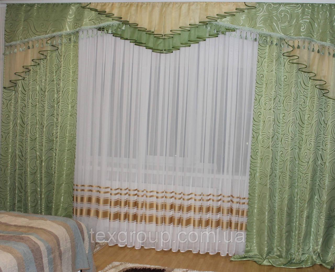 Комплект штор с ламбрекеном №271