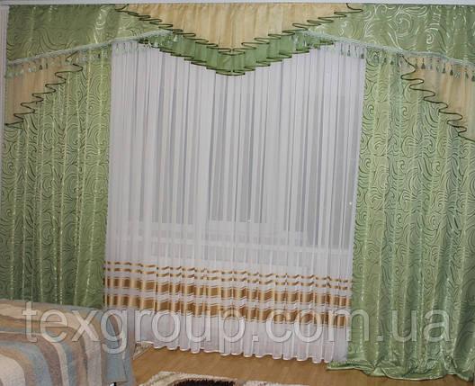 Комплект штор с ламбрекеном №271, фото 2
