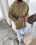 Кофта мужская хаки оверсайз, фото 2