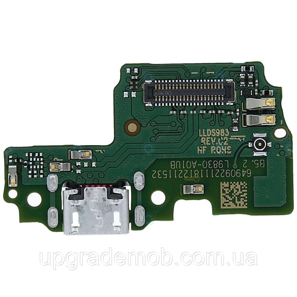 Шлейф Honor 6C/Nova Smart/Enjoy 6s с разъемом зарядки micro USB с микрофоном плата зарядки
