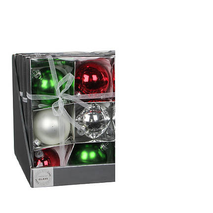 Елочные шарики, комплект 6 шт, фото 2