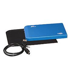 "Внешний карман Frime SATA HDD/SSD 2.5"", USB 2.0, Metal, Blue (FHE62.25U20)"
