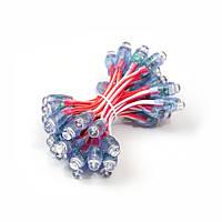 Светодиод быстрого монтажа (пиксель) 9мм, 12В, 0.1Вт, красный