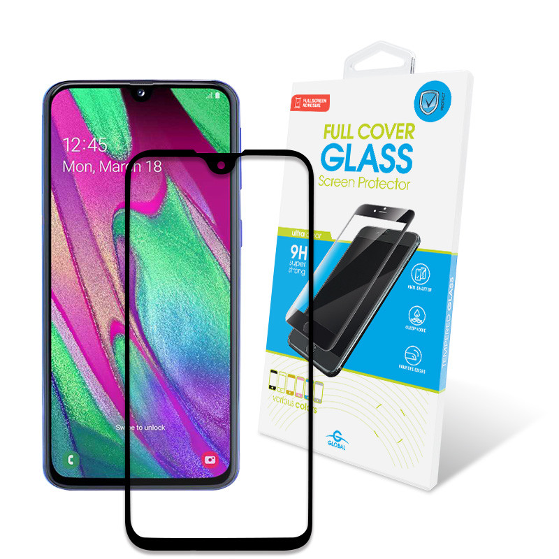 Защитное стекло Global для Samsung Galaxy A40 SM-A405 Full Glue Black (1283126490941)