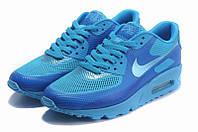 Кроссовки мужские Nike Air Max 90 Hyperfuse (в стиле найк аир макс 90) голубые