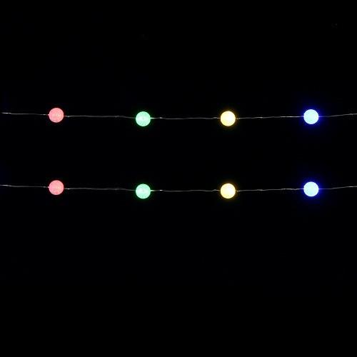 """Гирлянда 1,9 м., """"Струна"""" с шариками, """"Luca"""", мультицветная"""