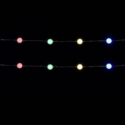 """Гирлянда 1,9 м., """"Струна"""" с шариками, """"Luca"""", мультицветная, фото 2"""