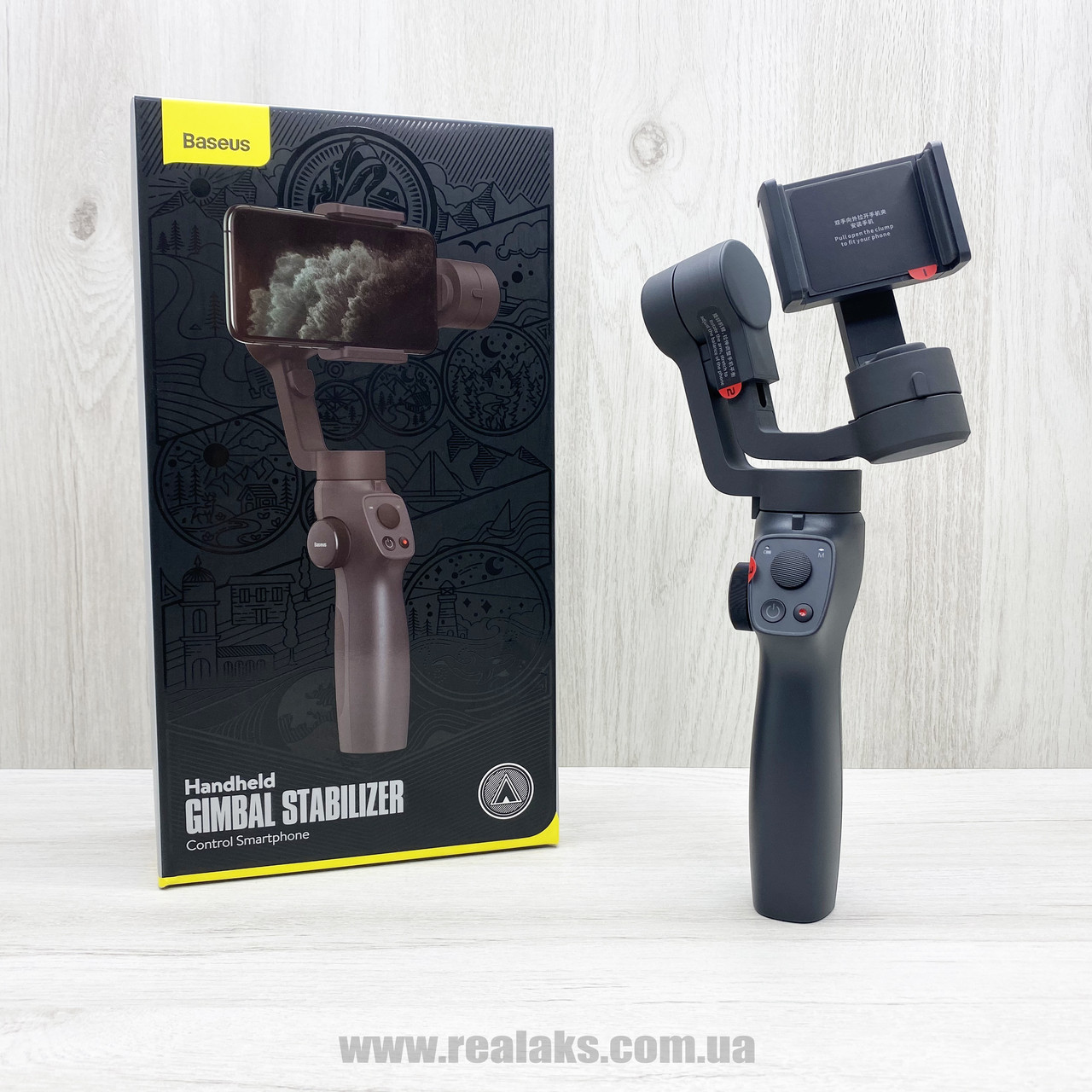 Стедікам електронний стабілізатор Baseus Handheld Gimbal Stabilizer (чорний)