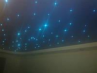 Монтаж натяжного потолка с системой Звездное небо