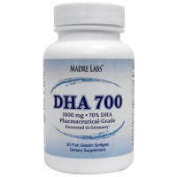 DHA/ДГК  700 мг 30 капс повышение IQ, для мозга, улучшение зрения, памяти  Madre Labs USA