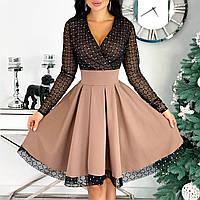 Красивое нарядное платье с пышной юбкой