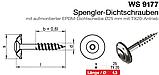 WS 9177 : нержавеющий шуруп с полупотайной головкой с шайбой EPDM, диаметром 25 мм, фото 2