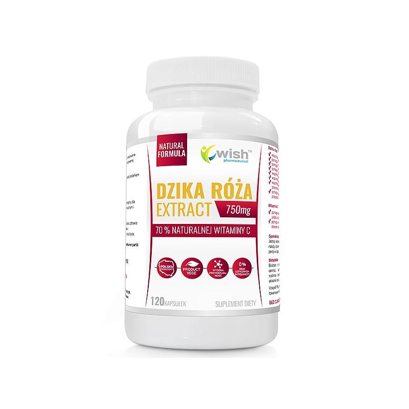 Экстракт плодов шиповника, натуральный витамин C, 750 mg 120 caps, Wish