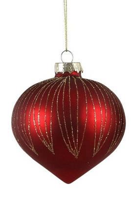 """Ялинковий скляну кульку, Ø 8 див., """"House of Seasons"""", колір червоний, мат., фото 2"""