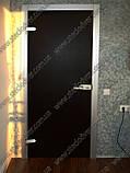 Стеклянные межкомнатные двери с рисунком в деревянной коробке, фото 5
