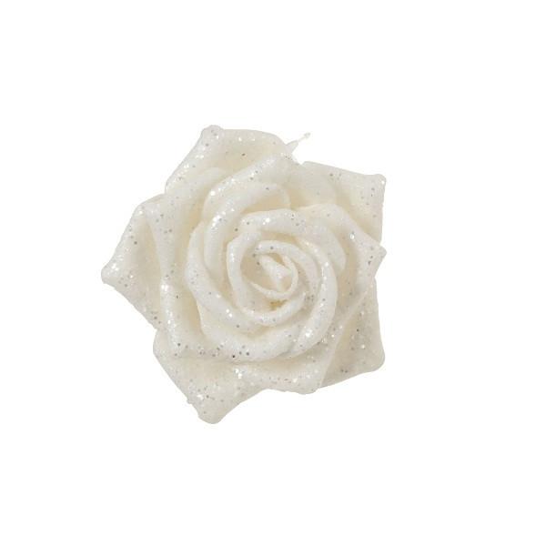 Украшение декоративная клипса, Роза белая 6*8 см, House of Seasons
