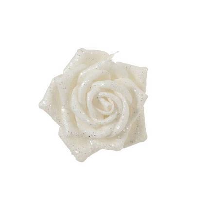 Украшение декоративная клипса, Роза белая 6*8 см, House of Seasons, фото 2