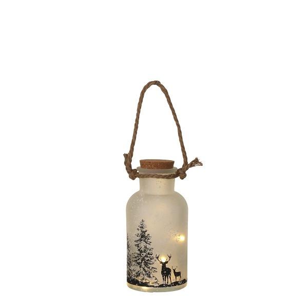 Декоративный фонарик с оленями Luca Lighting
