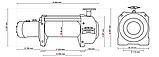 Лебедка гидравлическая на эвакуатор DWHI 15000 HD Dragon Winch без управления, фото 3