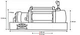 Лебедка гидравлическая на эвакуатор DWHI 12000 HD Dragon Winch без управления, фото 2