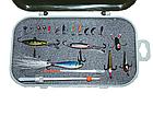 Набор для зимней рыбалки полный комплект ящик удочка мормышки, фото 2