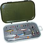 Набор для зимней рыбалки полный комплект ящик удочка мормышки, фото 3