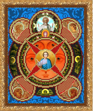 """Рисунок на ткани для вышивания бисером """"Всевидящее Око Господне"""", фото 2"""