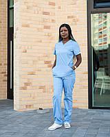 Медицинский костюм женский Топаз голубой, фото 1