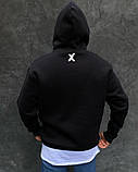 Черное мужское худи с капюшоном, фото 2